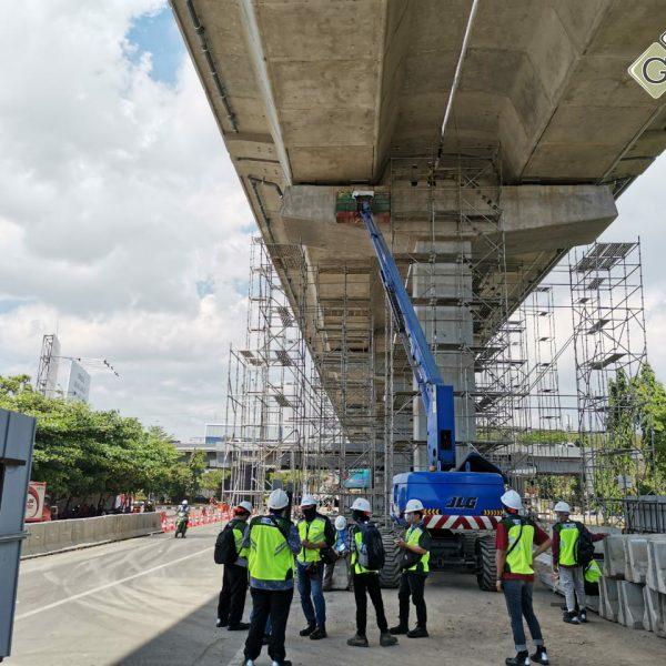 Loading Test Elevated Toll Pettarani Makassar