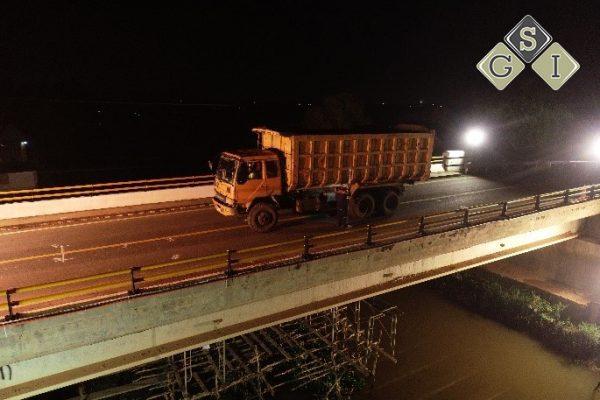 Loading Test Jembatan Lais Palembang - Sumatera Selatan